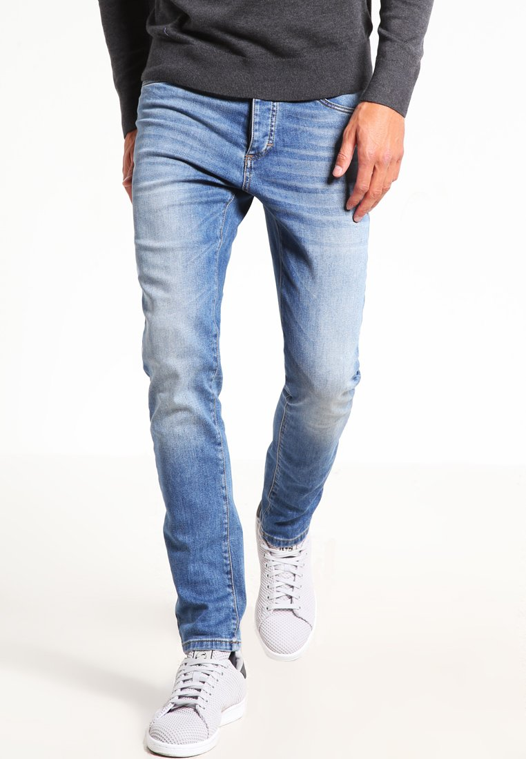Pier One - Slim fit jeans - light blue