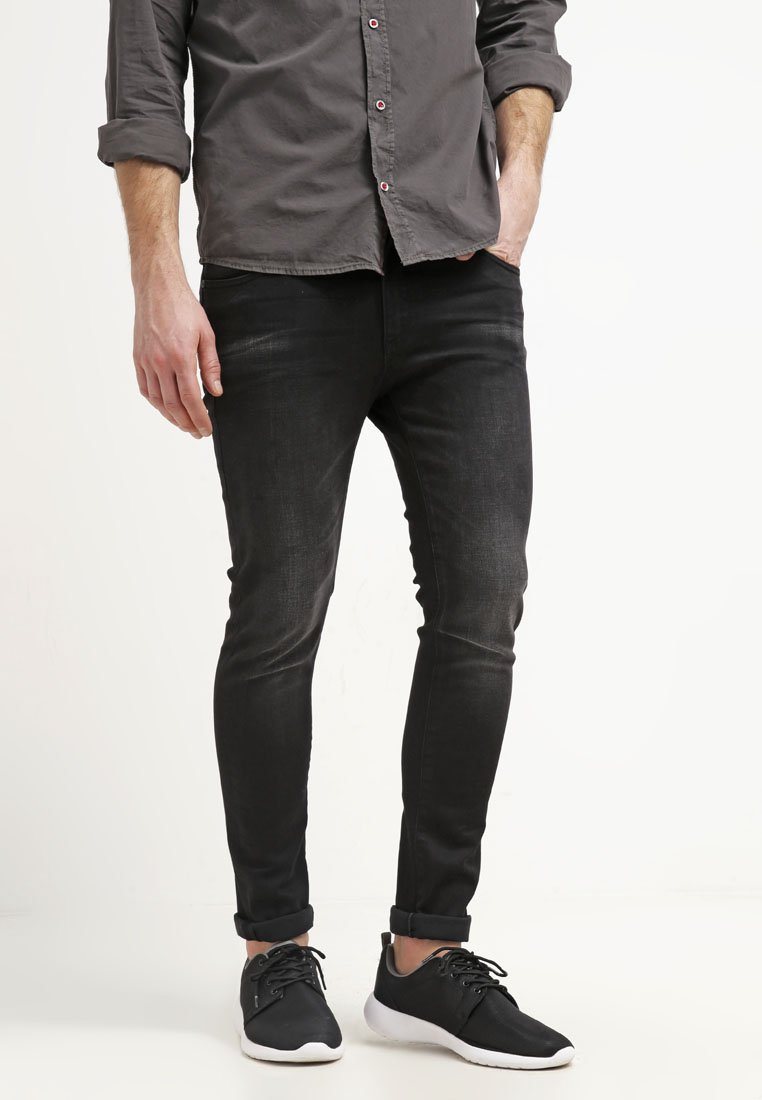 Pier One - Jeansy Slim Fit - black denim