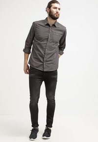 Pier One - Jean slim - black denim - 1