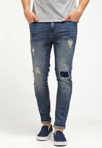 Pier One - Jeans slim fit - destroyed denim - 0