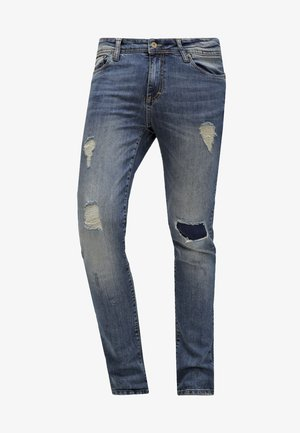 Jeansy Slim Fit - destroyed denim