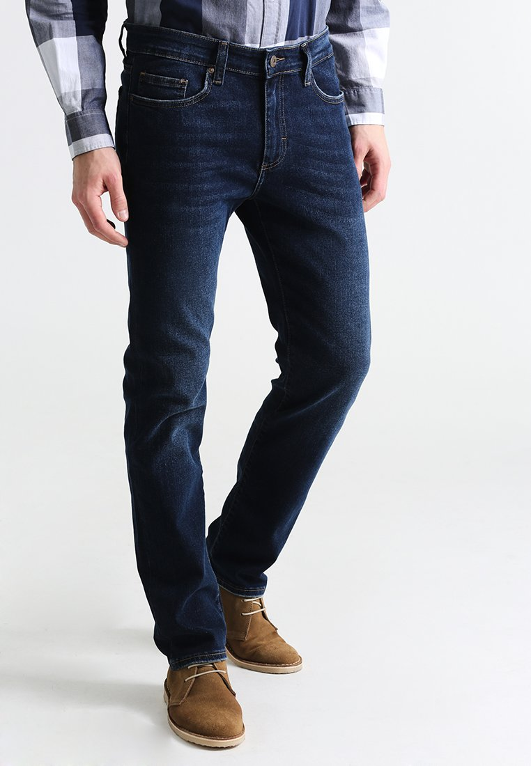 Pier One - BASIC - Jeans straight leg - dark blue denim