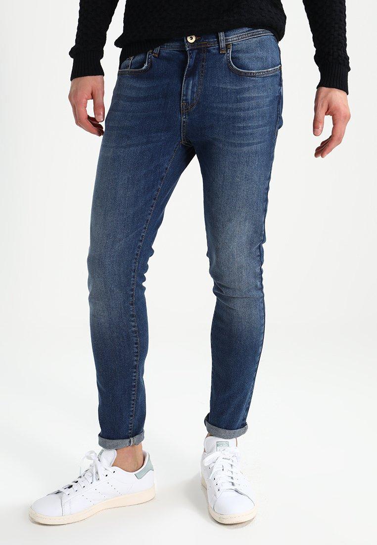 Pier One - Slim fit jeans - mid blue denim