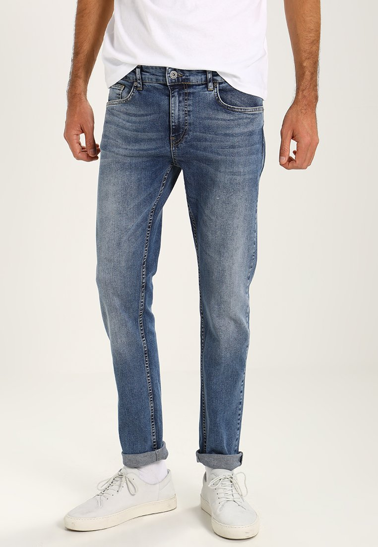 Pier One - Jean slim - mid blue denim