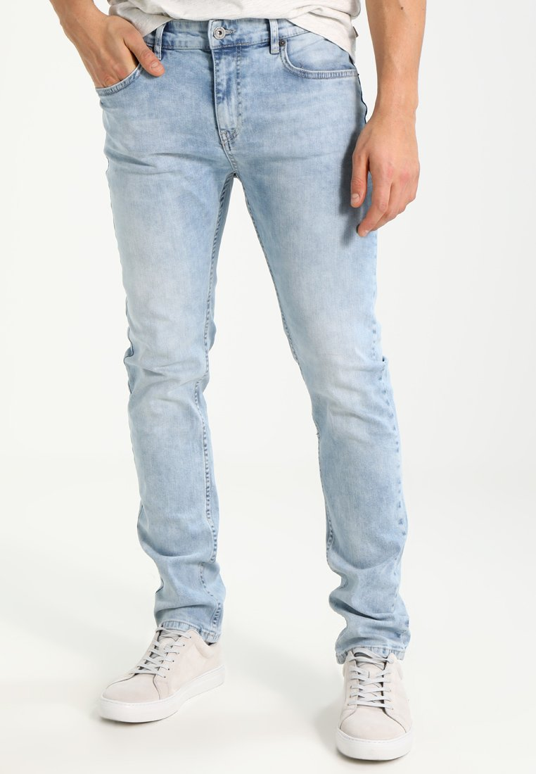 Pier One - Slim fit jeans - bleached denim