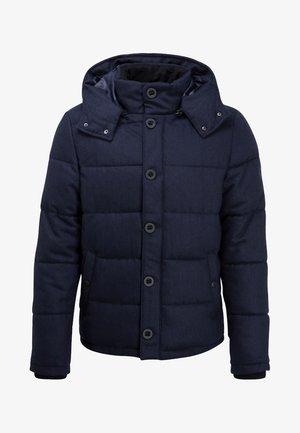 HOODED  - Winter jacket - dark blue melange