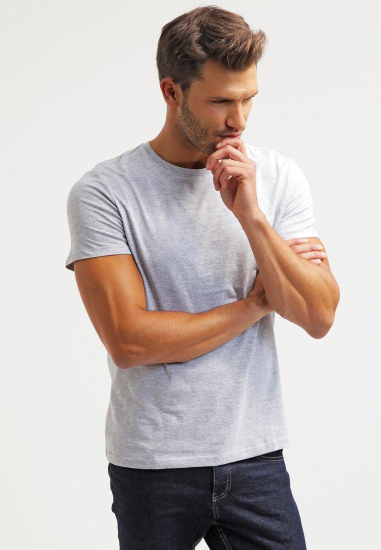 Pier One - T-shirts basic - light grey melange