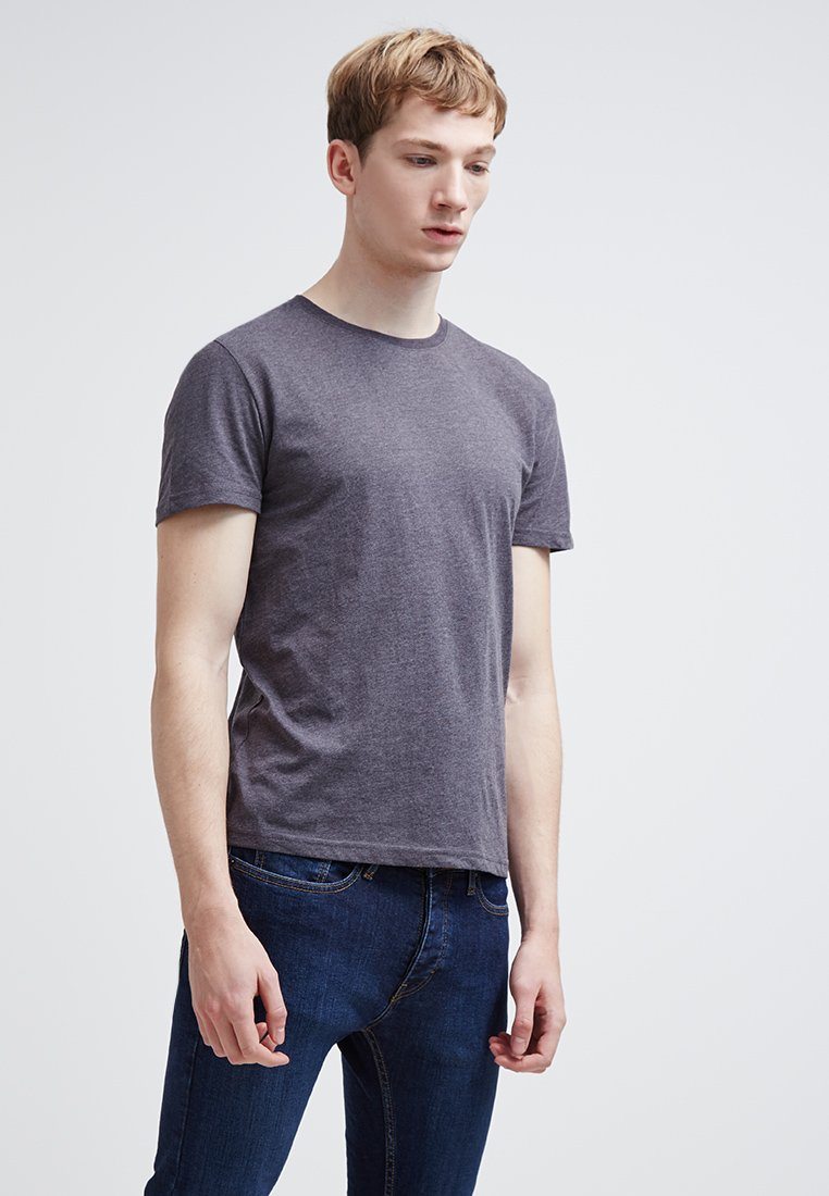 Pier One - T-shirt basic - dark grey melange