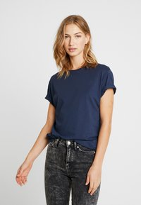 Pier One - Basic T-shirt - dark blue - 3
