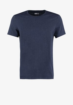 Basic T-shirt - dark blue melange