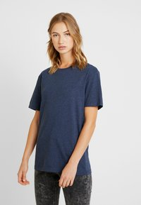 Pier One - T-shirt basic - dark blue melange - 3