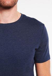 Pier One - T-shirt basic - dark blue melange - 5