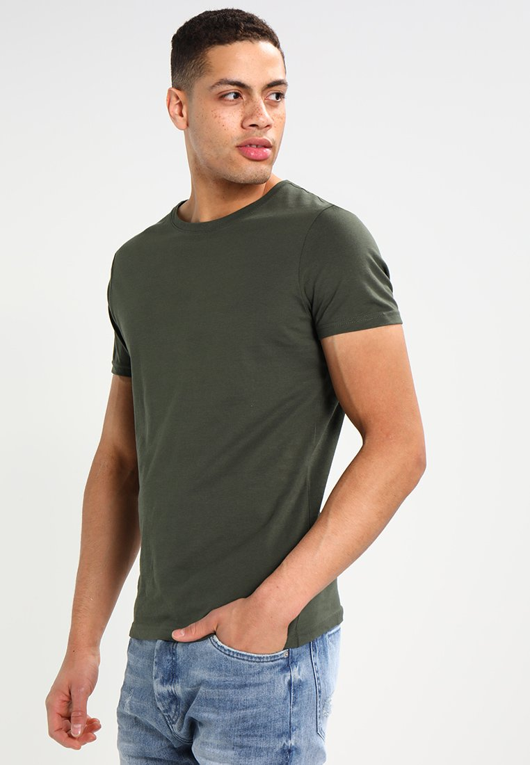 Pier One - Basic T-shirt - khaki