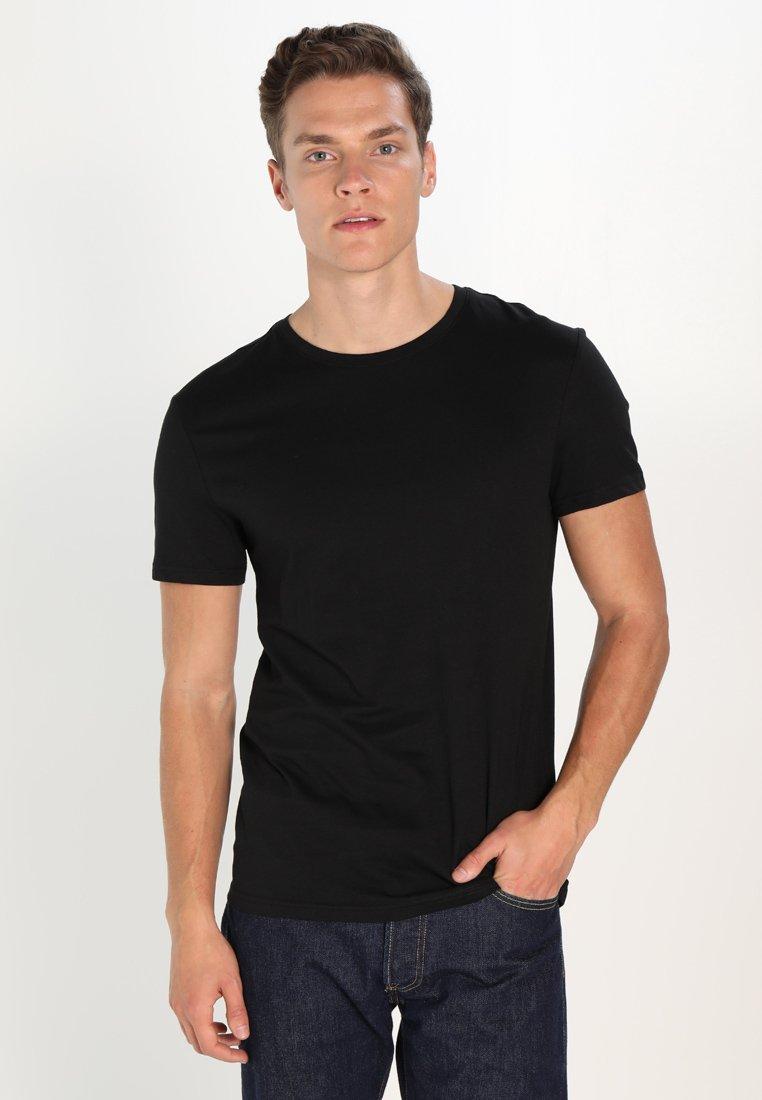 Pier One shirt black basique T QxrCtshd