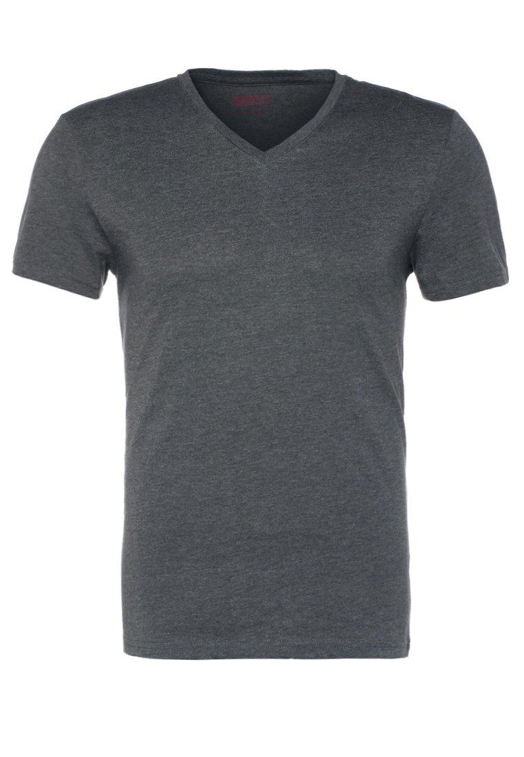 Pier One - T-shirts basic - dark grey melange