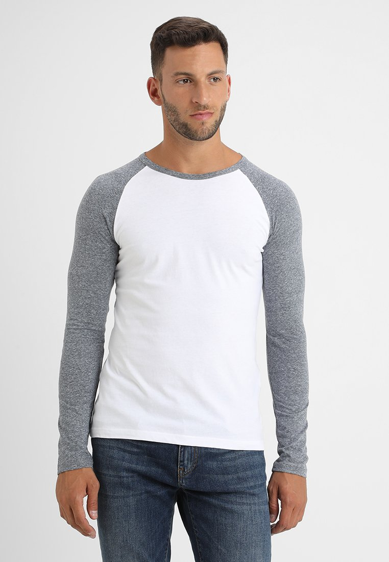 Pier One - Longsleeve - grey/white