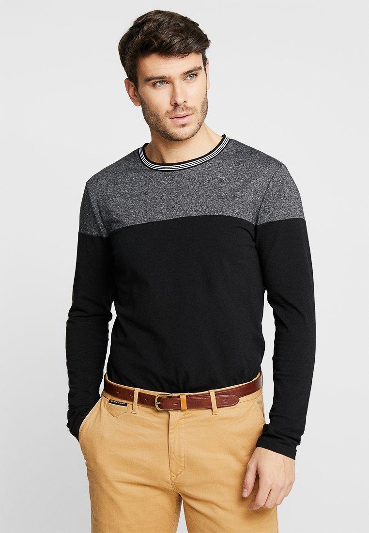 Pier One - Langærmede T-shirts - black/mottled grey