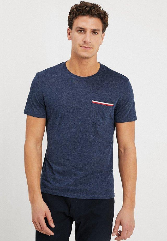 T-shirt basique - mottled dark blue