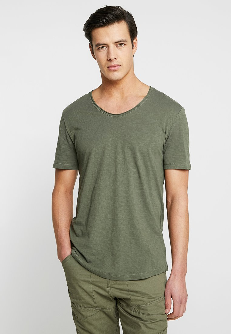 Pier One - T-Shirt basic - oliv