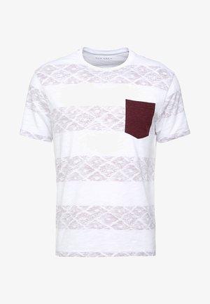 Print T-shirt - white/red