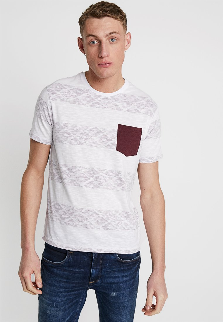 Pier One - Print T-shirt - white/red