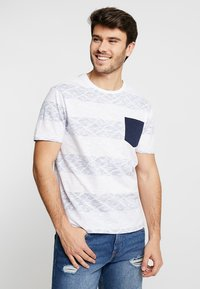 Pier One - Print T-shirt - white/blue - 0