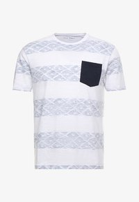 Pier One - Print T-shirt - white/blue - 4