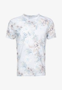 Pier One - T-shirt med print - light blue - 4