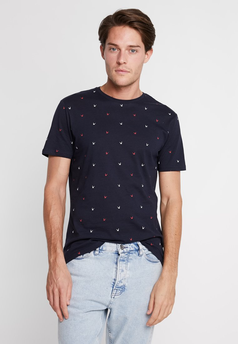 Pier One ImpriméDark T shirt Blue F1JTlKc