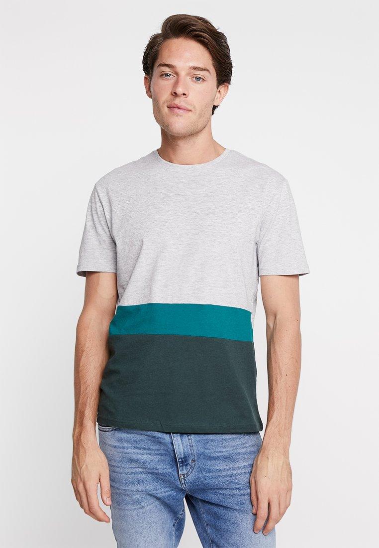 T shirt One BasiqueMottled petrol Pier Grey 0wmnNOv8