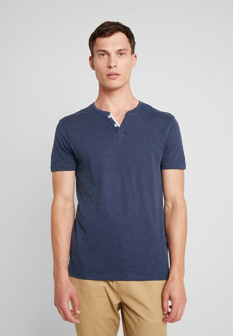Pier One - Basic T-shirt - mottled dark blue