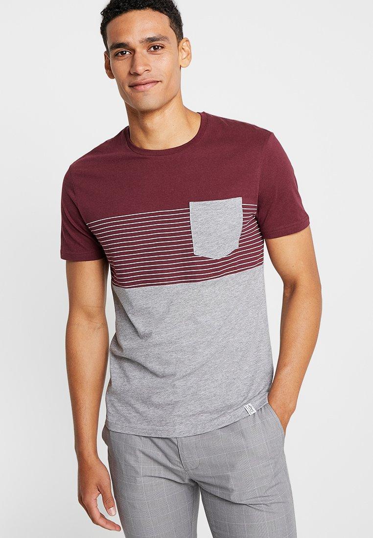 Pier One One ImpriméBordeaux shirt shirt T Pier T iPuTwkOZX