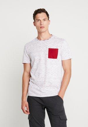 T-shirt z nadrukiem - white/red