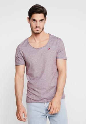 T-shirt con stampa - bordeaux