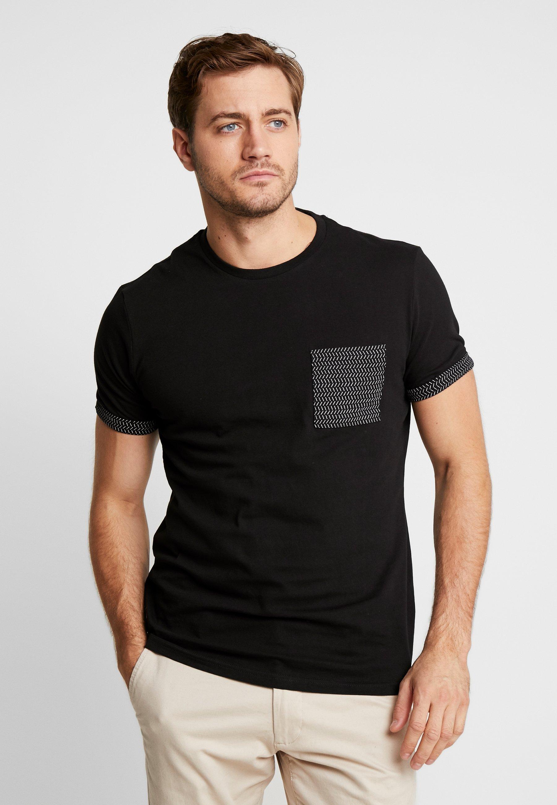 Pier One T-shirt z nadrukiem - black