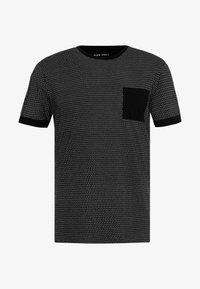 Pier One - Camiseta estampada - black/white - 4