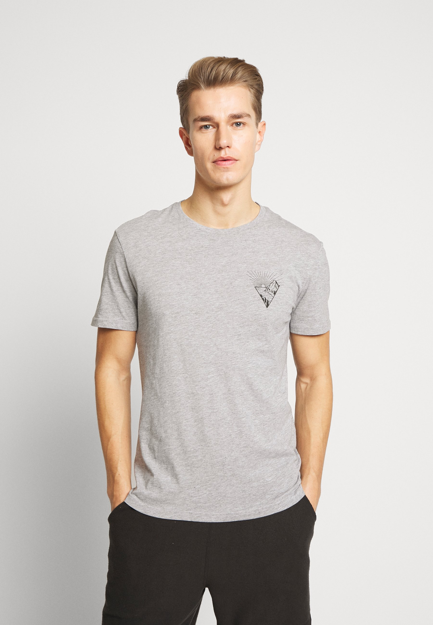 Pier One T-shirt z nadrukiem - mottled grey