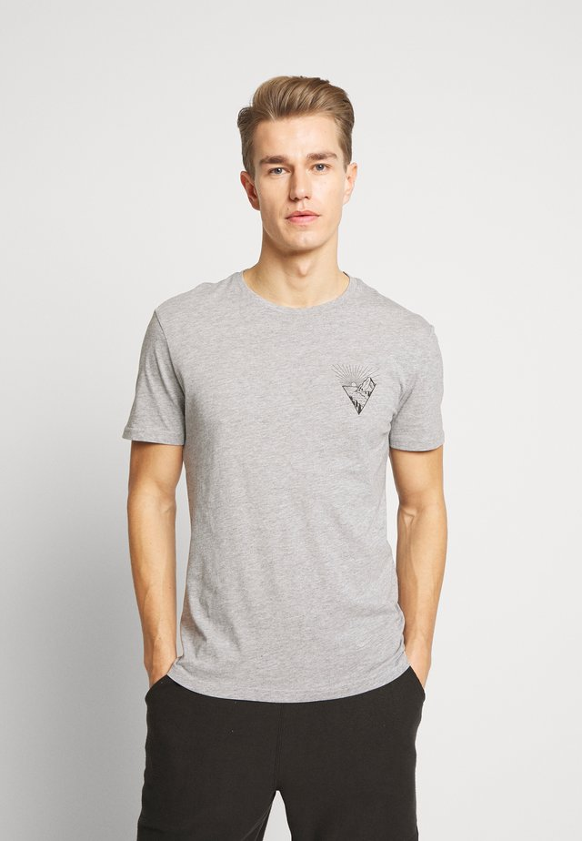 T-shirt print - mottled grey