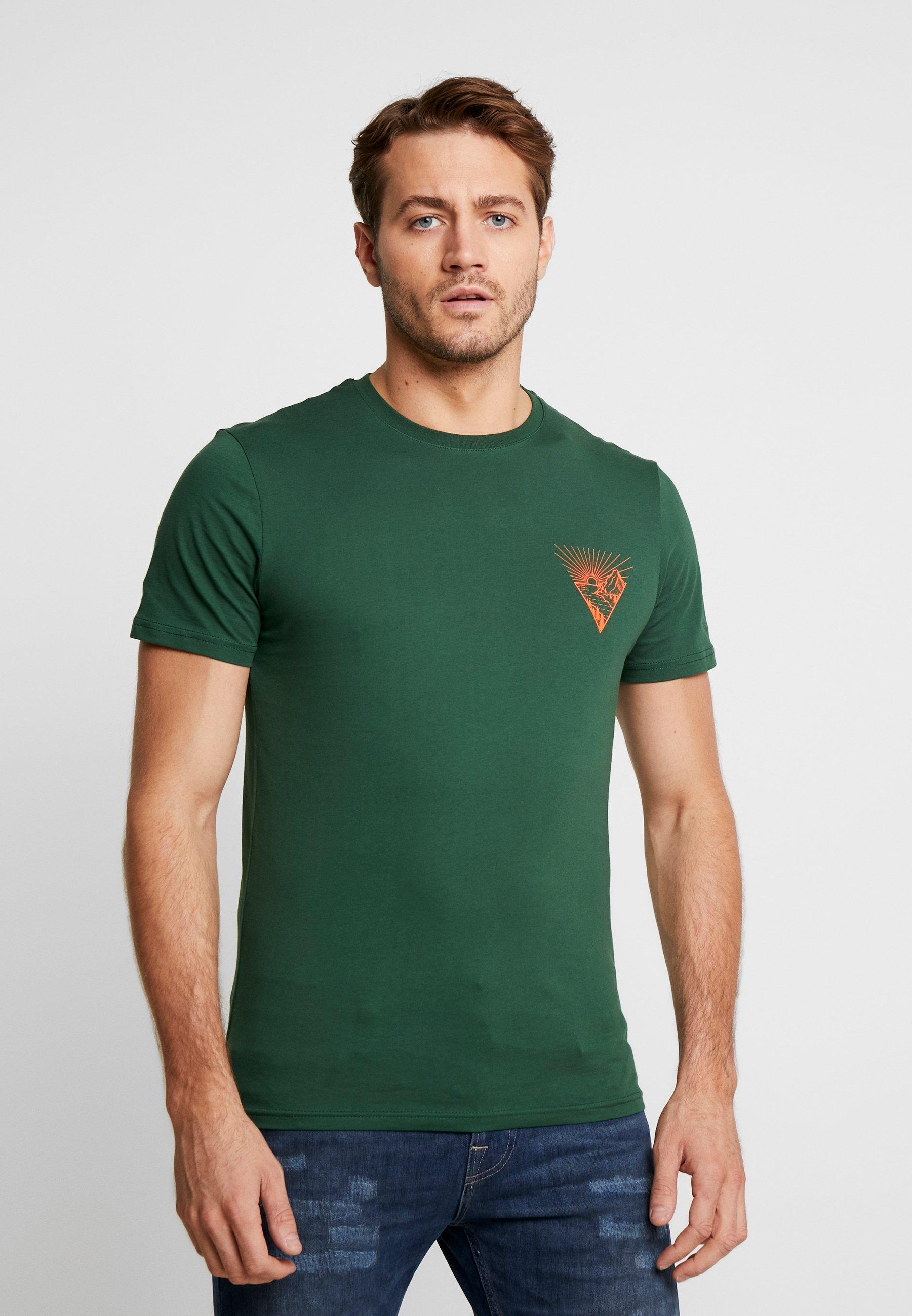Pier One T-shirt z nadrukiem - dark green