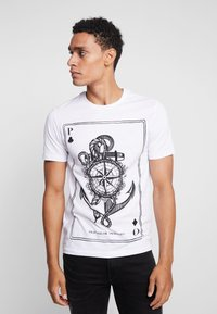 Pier One - T-shirt imprimé - white - 0