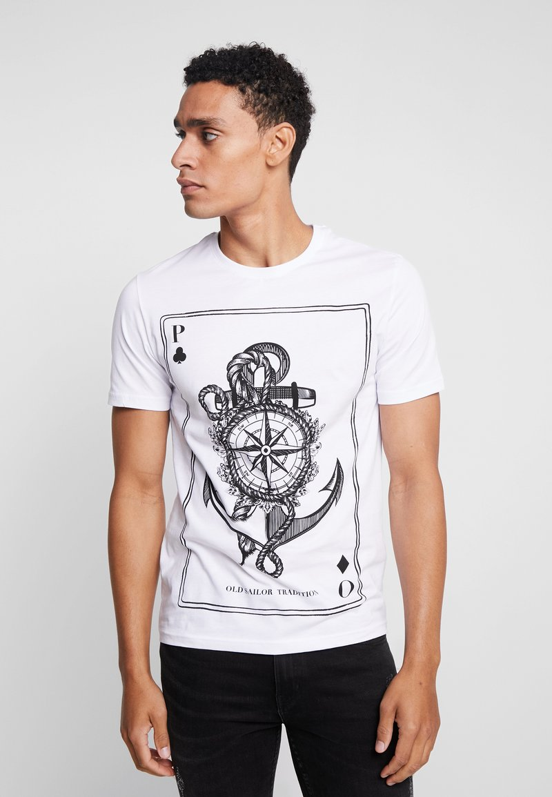 Pier One - T-shirt imprimé - white