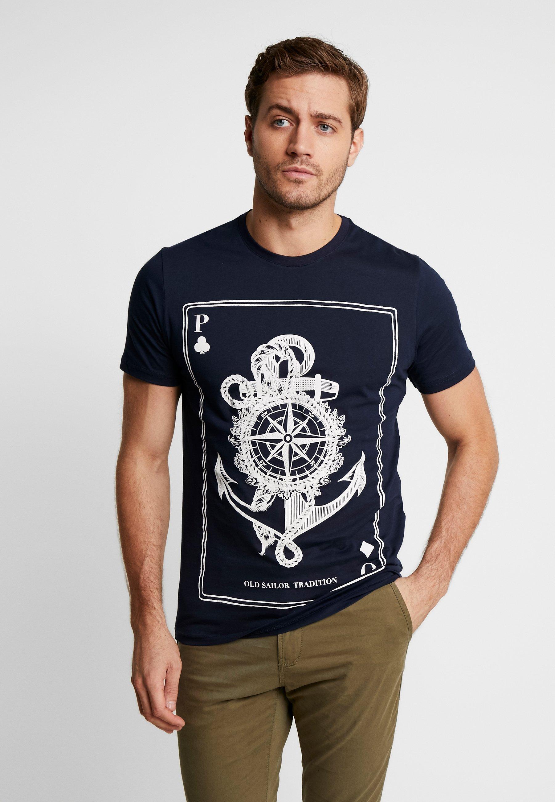 One print Shirt Pier dark blue T rtshQCxd