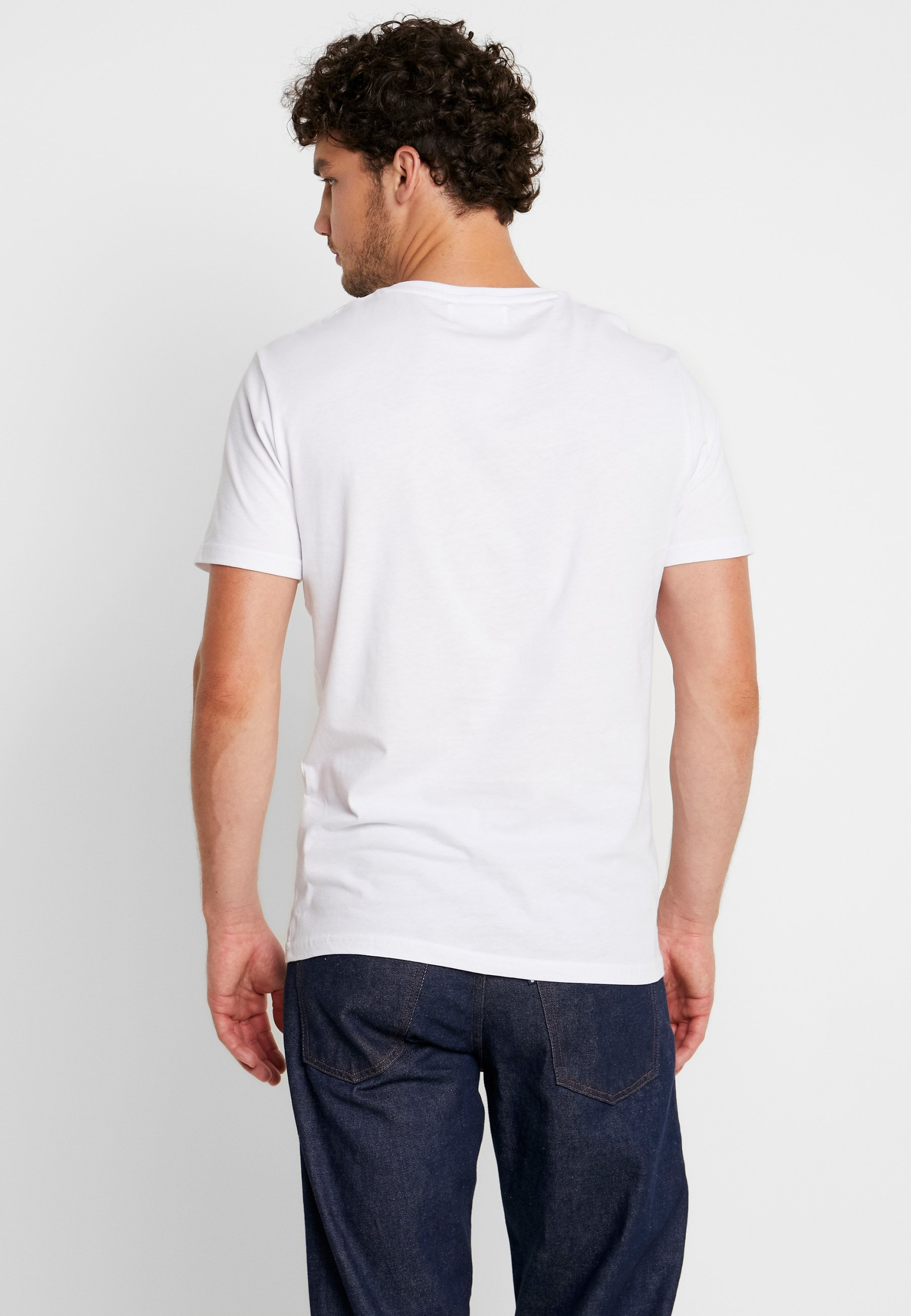 Blue Pier dark One ImpriméWhite shirt T 6bvfyY7g