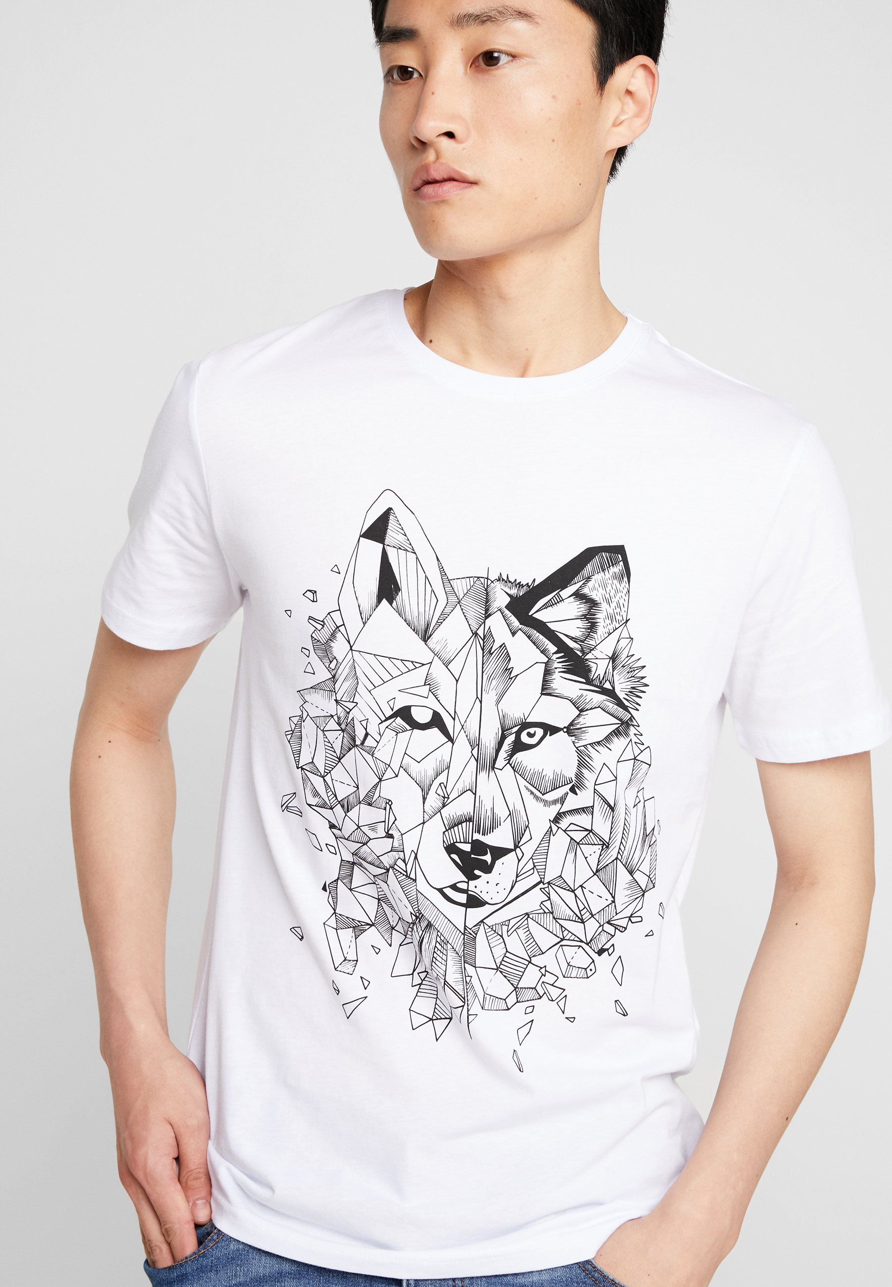 Pier One T-shirt z nadrukiem - white