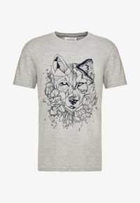 Pier One - T-shirt print - mottled grey - 4