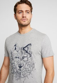 Pier One - T-shirt print - mottled grey - 3