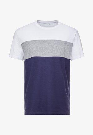 T-shirt basique - white/dark blue