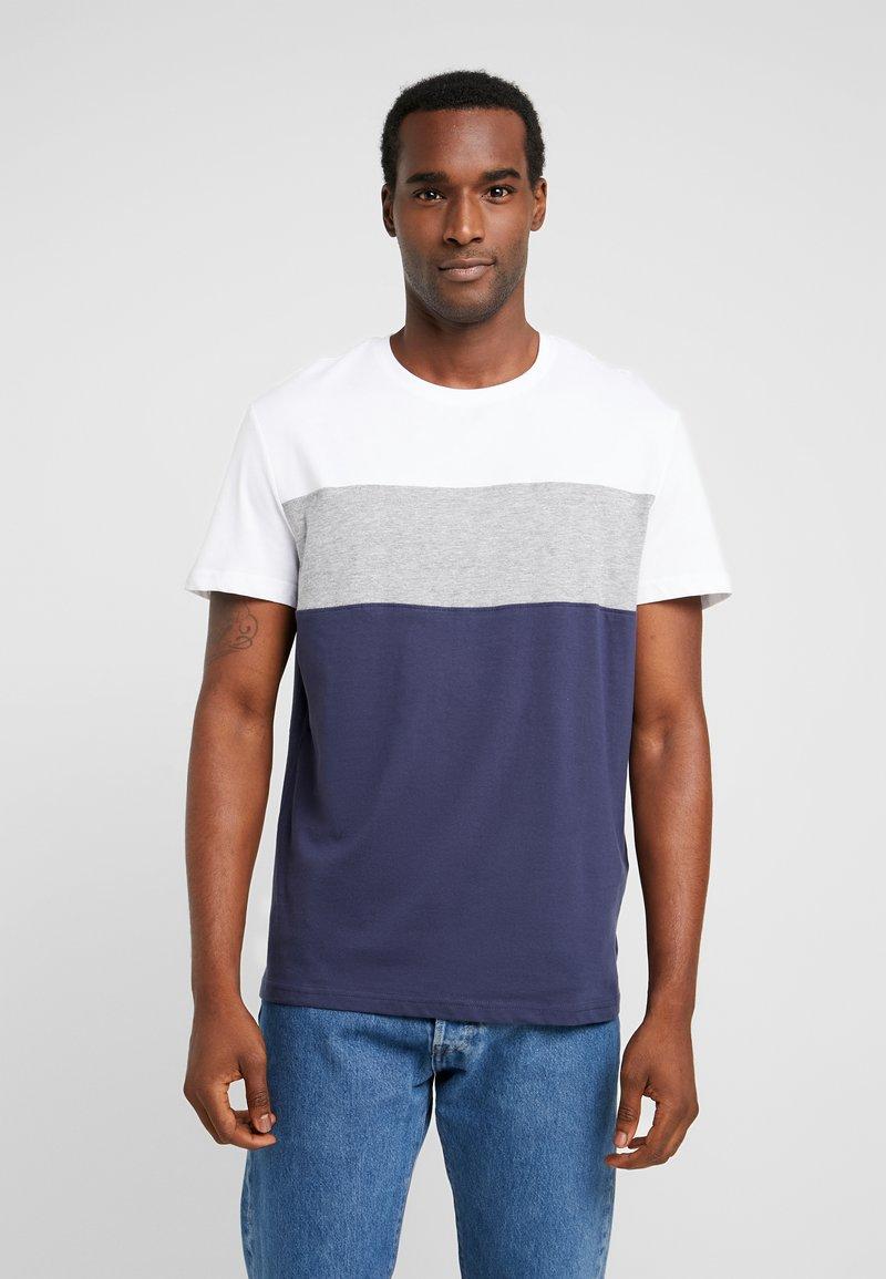 Pier One - T-Shirt basic - white/dark blue