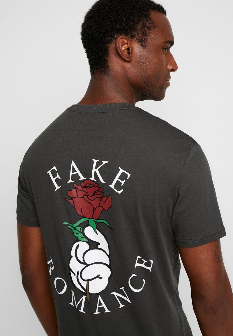 Pier One - T-shirt z nadrukiem - black