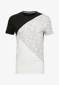 Pier One - T-shirt imprimé - black/offwhite - 3